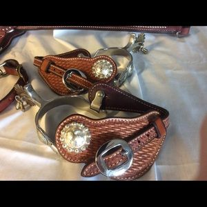 Weaver Leather Spur straps and spurs